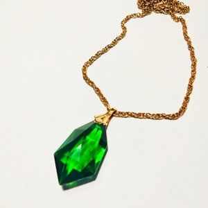Beautiful Green cut glass pendant